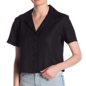 Frame Denim Tops - NWT FRAME Linen Crop Shirt